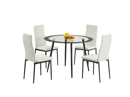 Picture of Acodia Dining Set Clear Glass & Black