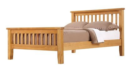 Picture of Acorn Solid Oak Bed High Footend Double