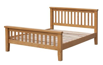 Picture of Acorn Solid Oak Bed High Footend King Size