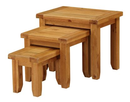 Picture of Acorn Solid Oak Nest of Tables
