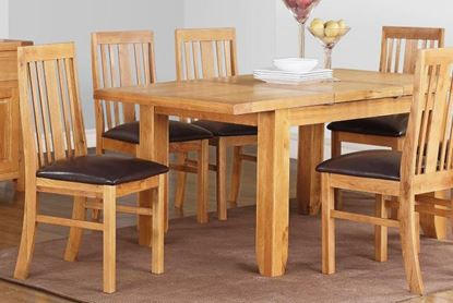 Picture of Acorn Solid Oak Extending Table Large with 6 Chairs