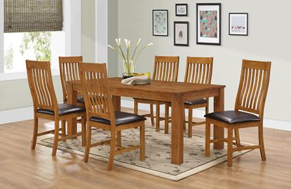 Picture of Adderley Dining Set with 6 Chairs Walnut