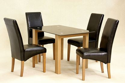 Picture of Adina Black Dining Set Small 4 Cyprus Chairs