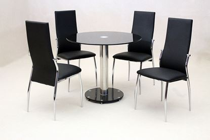 Picture of Alonza Black Dining Set 4 Chairs