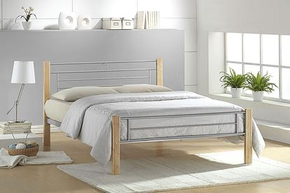 Picture of Amber Bed Double Silver-Beech