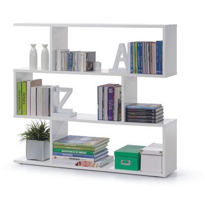 Picture of Arctic Bookcase Wide High Shine White