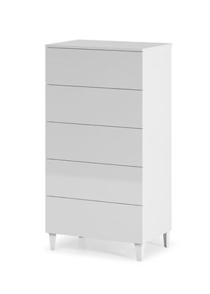 Picture of Arctic Chest 5 Drawer High Shine White