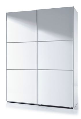 Picture of Arctic Sliding Wardrobe 5 Foot Full Hanging High Shine White