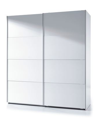 Picture of Arctic Sliding Wardrobe 6 Foot Full Hanging High Shine White