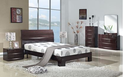 Picture of Arden Cherry High Gloss Bed King Size