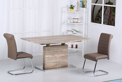 Picture of Astra Extending Dining Set with Stainless Steel Base