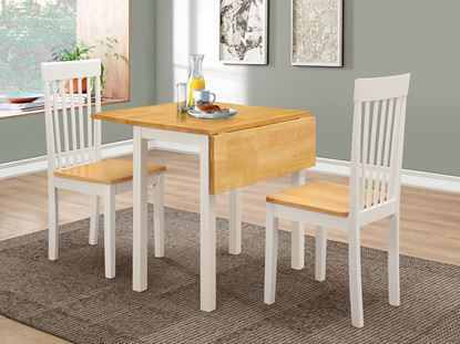Picture of Atlas Solid Rubberwood Dropleaf Dining Set with 2 Chairs