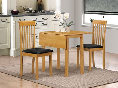 Picture of Atlas (Amber) White Dropleaf Dining Set with 2 Chairs