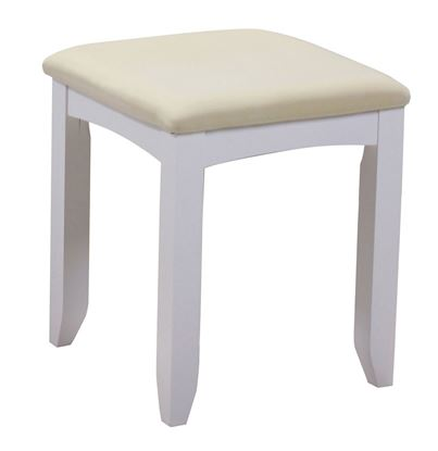 Picture of Chelsea White Dressing Table Stool