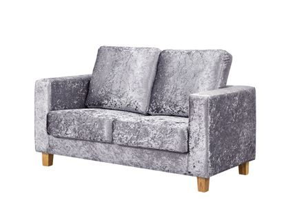 Picture of Chesterfield 2 Seater Sofa Crushed Velvet Silver