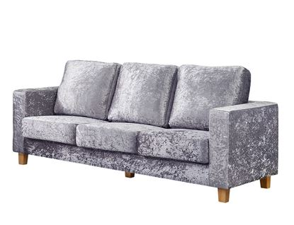 Picture of Chesterfield 3 Seater Sofa Crushed Velvet Silver