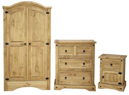 Picture of Corona Trio Wardrobe, Chest & Bedside