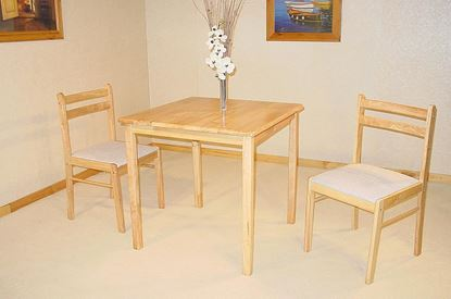 Picture of Dinnite Dining Set 2 Chairs Natural
