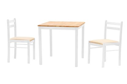Picture of Dinnite Dining Set 2 Chairs White