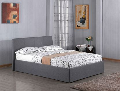 Picture of Fusion Fabric Storage 4 Foot Bed Grey