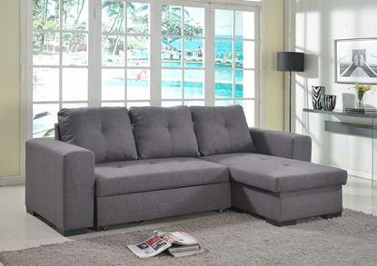 Picture of Gianni Storage Chaise Sofa Bed Linen Grey
