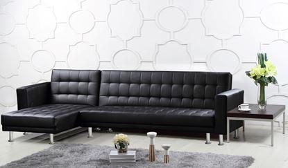 Picture of Hawthorn Corner Multi Functional Sofa Bed PU & PVC Black