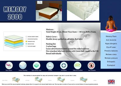Picture of Memory 2000 Mattress Single