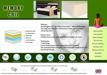 Picture of Memory Coil Mattress Single