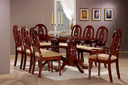 Picture of Moscow Dining Set with 6 Side & 2 Arm Chairs Mahogany