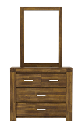 Picture of Parkfield Solid Acacia Dressing Table 4 Drawer