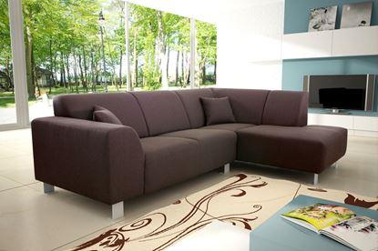 Picture of Trend Corner Sofa Fabric Brown